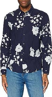 Marca Amazon - find. Floral Printed - Camisas Hombre