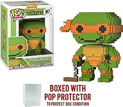 Funko 8-Bit Pop! Teenage Mutant Ninja Turtles - Michelangelo Vinyl Figure (Bundled with Pop BOX PROTECTOR CASE)