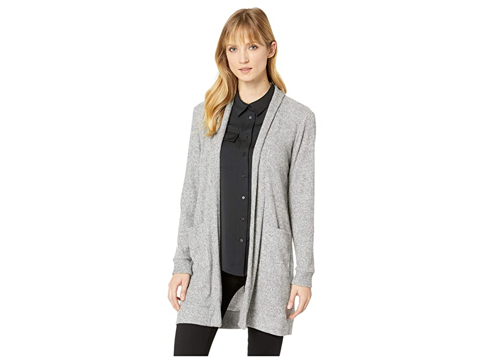 TWO by Vince Camuto Brushed Rib Knit Two-Pocket Cardigan (Grey Heather) Women's Sweater