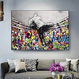 Banksy Graffiti Art Tigre Image Impression D/'Art sur Toile Tableau Mural Tendues
