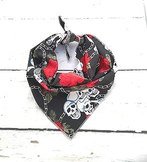 Cr/áneos Mexicanos Negro Dimples Bandana para Perro Regalo del due/ño del Perro 25cm Bufandas para Mascotas y Gatos Dia Des los Muertos pa/ñuelo para Perros peque/ños medianos y Grandes