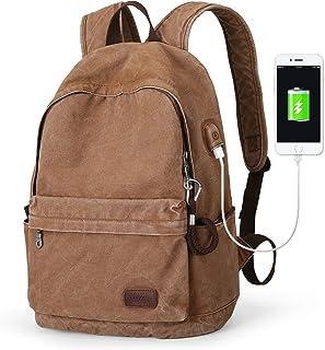 Canvas Backpack Lightweight Travel Daypack Student Rucksack Laptop Backpack