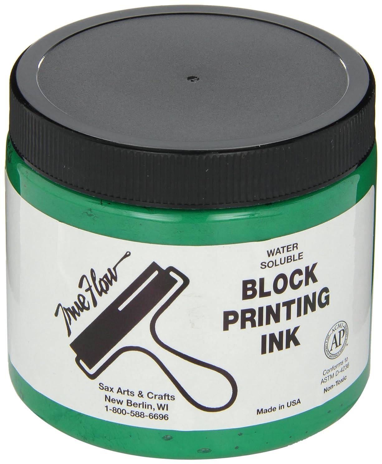 Sax True Flow Water Soluble Block Printing Ink - 16-oz. Jar - Green