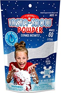 Be Amazing! Toys Amazing Grow Snow Powder - Bulk Class Party Pack - Great For Slime - Makes 8-10 gallon of Artificial Fake Snow (454G-1Lb)