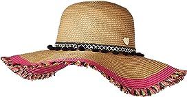 558f9b5fd1262 Braided Pom Band Floppy Hat w  Raw Edge. Betsey Johnson
