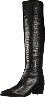 Women's Shannon Fashion Boot, Black Crocco Leather, 8.5 M US