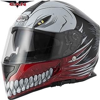 <h2>VCAN, hohl Graphic Red Motorrad-Motorrad Roller Crash Track Helm Schnelle Sport Full Face ACU und Sturmhaube - rot - XL 61 to 62cm</h2>