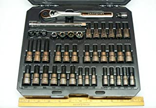 Craftsman 42pc 1/4 & 3/8 drive bit socket set includes SAE and Metric NEW 34845