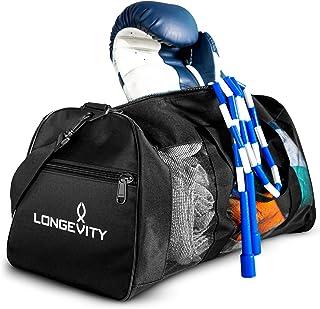 Longevity Gear Mesh Bag | Duffle Bag | Boxing Bag | Gym Bag | MMA, BJJ, Swimmers, Active Athletes | Breathable Duffel Bag ...