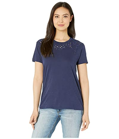 Lucky Brand Embroidered Tee (American Navy) Women