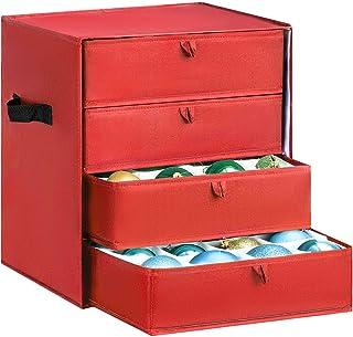 Vencer Red Drawer Christmas 64 Ornament Storage,VHO-012
