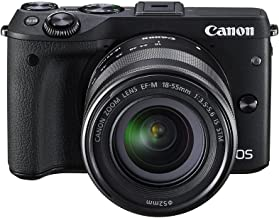 $1199 » Canon EOS M3 Mirrorless Camera Kit with EF-M 18-55mm Image Stabilization (IS) STM Lens - Wi-Fi Enabled (Black)