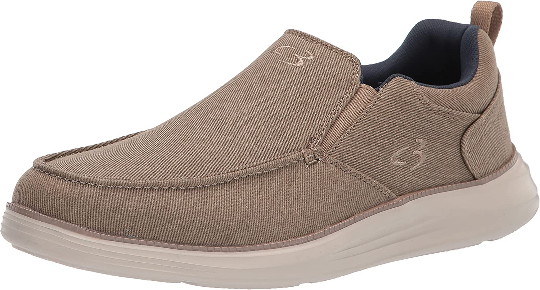 Concept 3 by Skechers Men's Fortsen Canvas Slip-on Sneaker