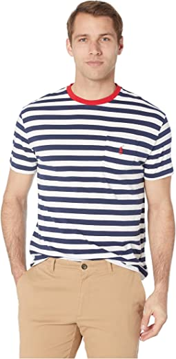 c2523cd2 Polo Ralph Lauren. Short Sleeve Classic Fit Pocket Tee. $45.00. Newport  Navy/White