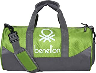 800c458ff80b81 United Colors of Benetton Gym Bag Polyester 44 cms Neon Green/Grey Gym  Shoulder Bag