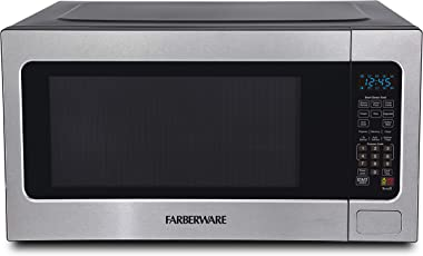 Farberware Professional FMO22ABTBKA 2.2 Cu. Ft. 1200-Watt Microwave Oven with Smart Sensor Cooking, ECO Mode and Blue LED Lighting, Stainless Steel