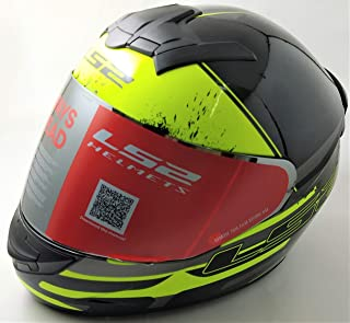 LS2 Helmets - FF352 Rookie - Combat - Gloss Black Grey Yellow - Single Mercury Visor Full Face Helmet - (Medium - 570 MM)