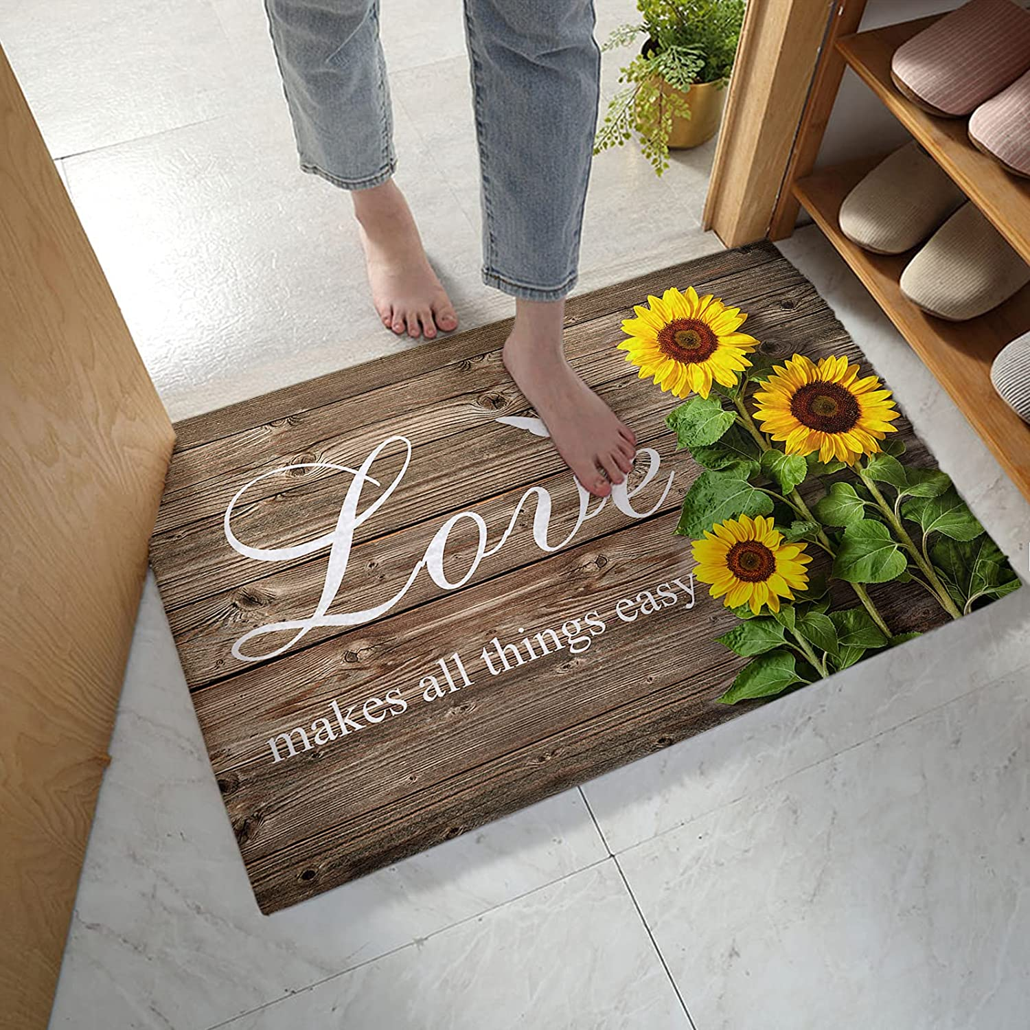 Indoor Doormat Front Door Mat Love Sunshin Now free shipping Makes Easy All Sale special price Things