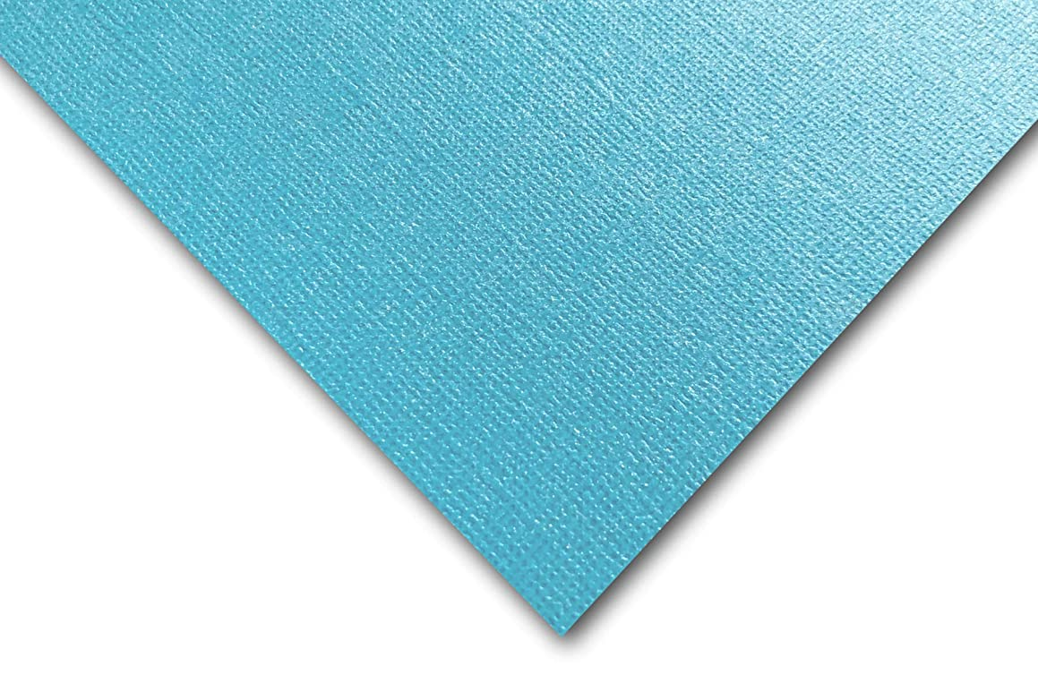 Premium Pearlized Metallic Textured Splash Blue Card Stock 20 Sheets - Matches Martha Stewart Splash - Great for Scrapbooking, Crafts, Flat Cards, DIY Projects, Etc. (8.5 x 11)