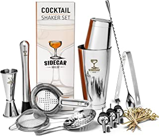 Cocktail Shaker Set by Sidecar Mixology: 16 Piece Premium...