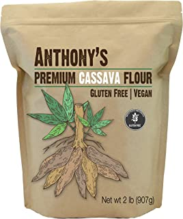 Anthony's Cassava Flour, 2lbs, Batch Tested Gluten Free, Non GMO, Vegan