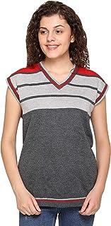 SHETRACTIVE Women's Wool Blend V-Neck Sweater