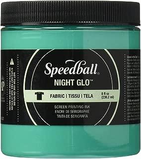 Speedball Art Products Night Glow Fabric Screen Printing Ink, 8oz, Green