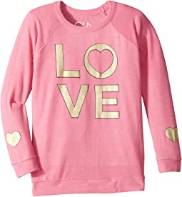 Extra Soft Golden Love Print Pullover Sweater (Little Kids/Big Kids)