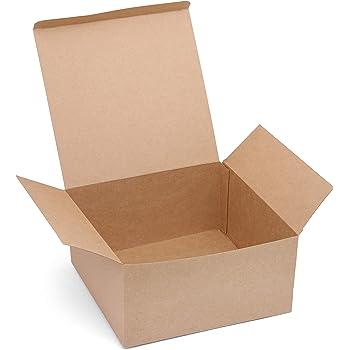 Belle Vous Kraft Cajas de Regalo (Pack de 12) - (20,3x20,3x10,1cm) Cajas Regalo con Tapa para Regalos, Manualidades, Bodas, Cajas de Magdalenas, Galletas, Dulces ...