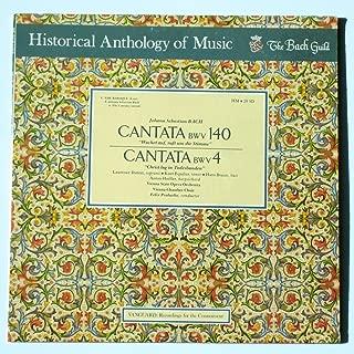 Bach Cantata # 140 (sleepers wake)& #4 (Christ lay in the bonds of death), Vanguard Everyman Classics vinyl