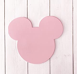 Pink Mickey Mouse Head 5x5 Die Cut Place Card Food and Name Labels 20 Pieces