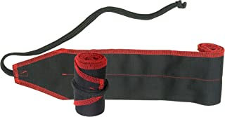Weight Lifting Cotton Wrist Wraps Strength Wraps Bandage Hand Support Gym Straps -Pair (Black with Red Stitching)