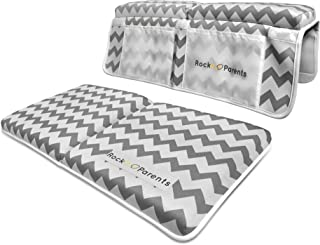 Rockit Parents Bath Kneeler and Elbow Rest Set - Neoprene Padded Cushions for Baby Bathtub Comfort and Safety, Thick Extra Wide Non-Slip Pad & Arm Rest with Suction Cups, for Moms, Dads, Toddlers