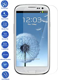 Todotumovil Protector de Pantalla Samsung Galaxy S3 i9300 de Cristal Templado Vidrio 9H para movil