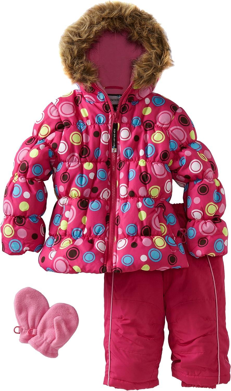 Rothschild Baby Girls' Print Quilted Snowsuit
