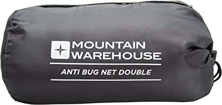 Mountain Warehouse Vacation Mosquito & Bug Net - Double - Fine Honeycomb Netting, Pack Away Bag