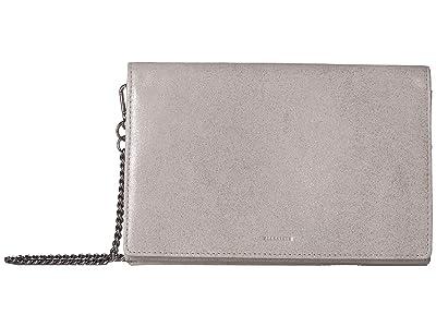 AllSaints Glitz Chain Wallet Crossbody (Glittering Silver) Handbags
