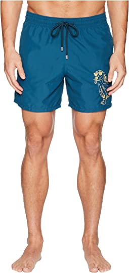 Motu Sunny Dog Embroidery Swim Trunk