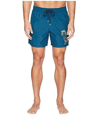 Vilebrequin Motu Sunny Dog Embroidery Swim Trunk (Embruns) Men