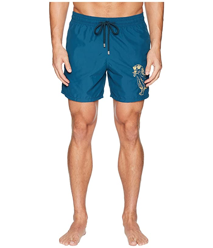Vilebrequin Motu Sunny Dog Embroidery Swim Trunk (Embruns) Men
