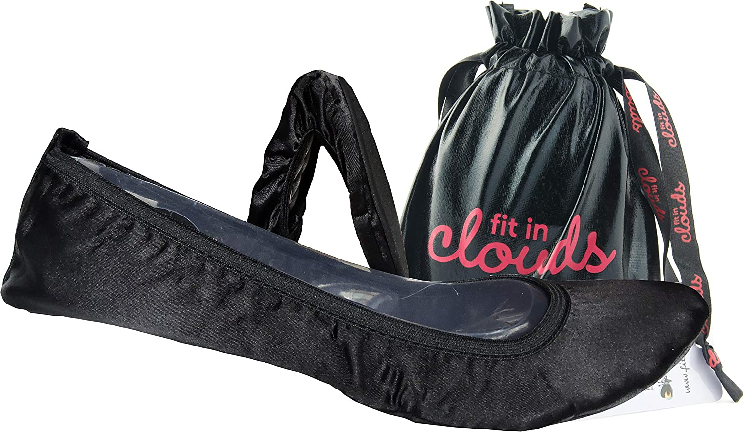 Fit in Clouds Satin Al sold out. Portable Folding 100% quality warranty Bag Flats with for Everyday