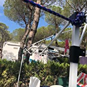 TecTake Gazebo Plegable jardín Fiesta Tienda de campaña Carpa pabellón 3x3 m con Funda de Transporte (Azul | No. 401621)