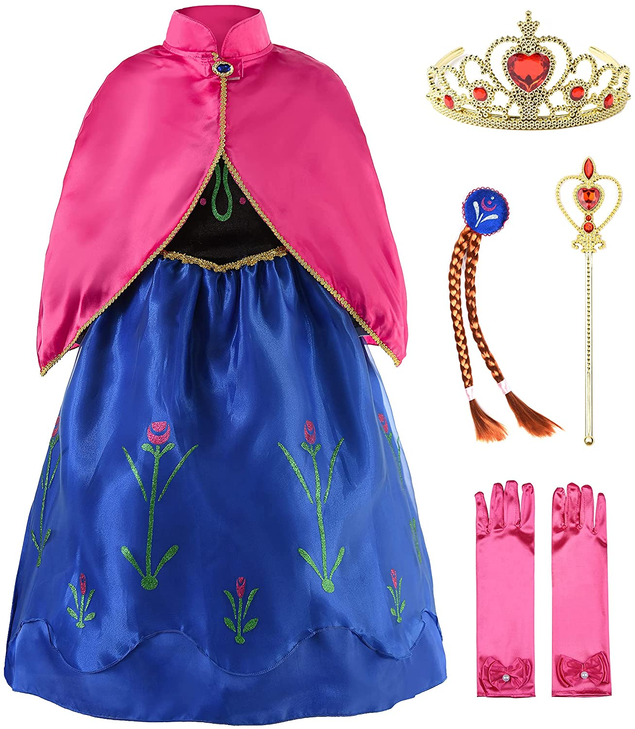 JerrisApparel Princess Snow Party Dress Queen Cosplay Dr Costume High Max 84% OFF quality new