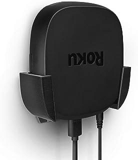 Brainwavz Roku Ultra 2020 Mount with VHB Tape, Screwless, No Tools, Wall & TV Holder, Easy to Install, Black