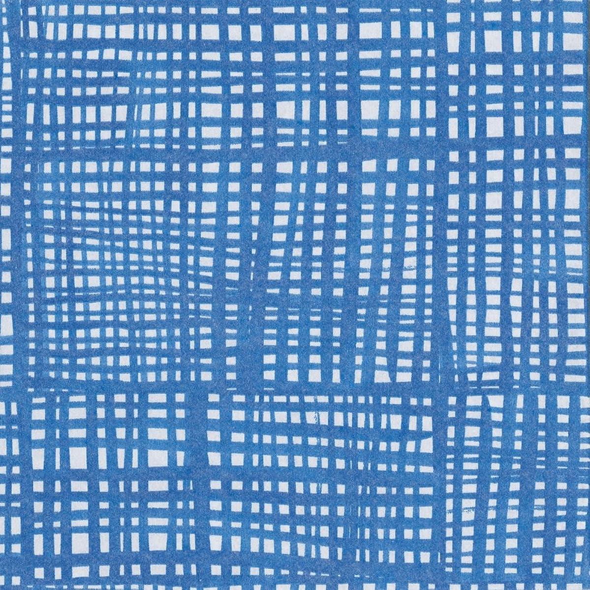 Entertaining with Caspari Raffine Paper Linen Cocktail Napkins (15 Pack), Blue