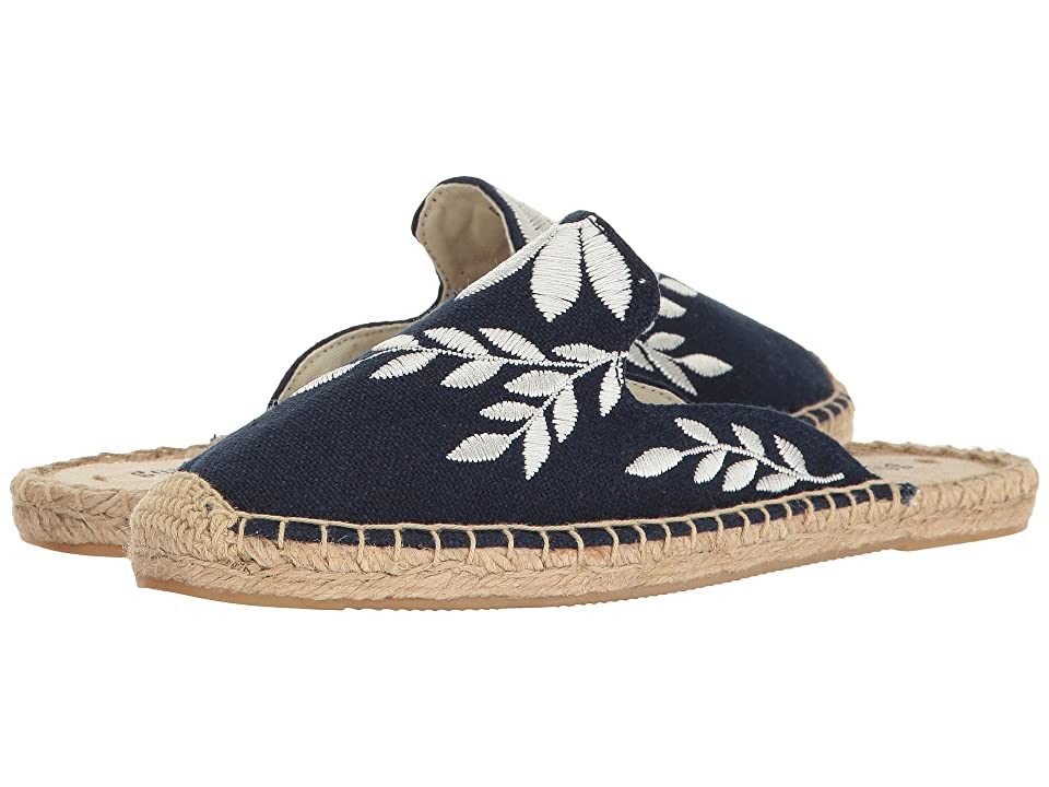Soludos Embroidered Floral Mule (Midnight/Ivory) Women
