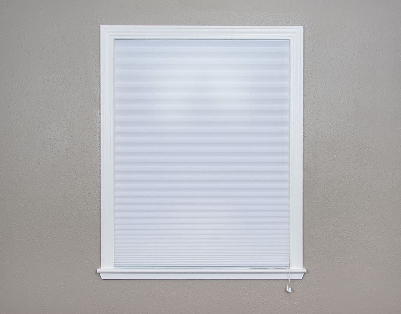 Original Corded Lift Light Filtering Pleated Paper Shade White, 36