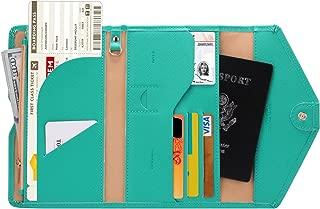 Multi-purpose Rfid Blocking Travel Passport Wallet (Ver.4) Tri-fold Document Organizer Holder