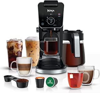 Ninja CFP301 DualBrew Pro Specialty 12-Cup Drip Maker with Glass Carafe, Single-Serve for Coffee Pods or Grounds, with 4 B...