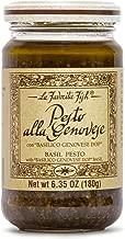 La Favorita D.O.P. Vegan Basil Genovese Pesto Sauce, 6.35 oz jar (Pack of 2 jars)